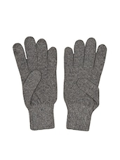 grey wool gloves -  online shopping for Gloves