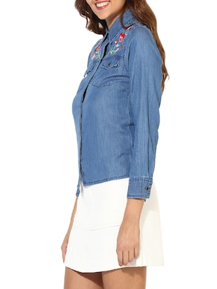 blue denim shirt - 14620197 - Standard Image - 2