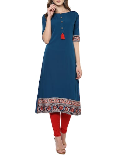 a5c97d7cfc3 Buy Boat Neck Kurtas Online - Stylish Boat Neck Kurtis in India
