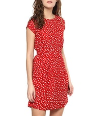 red belted dress -  online shopping for Dresses