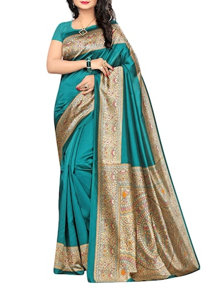 Green mysore silk saree
