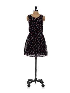 Black Birdie Dress - Aamod