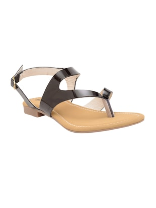 black back strap sandal