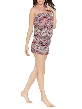 multi colored printed coverup - 14672138 - Standard Image - 2