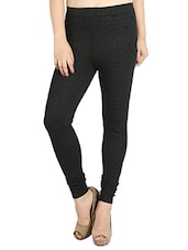 black cotton blend jeggings -  online shopping for Jeggings