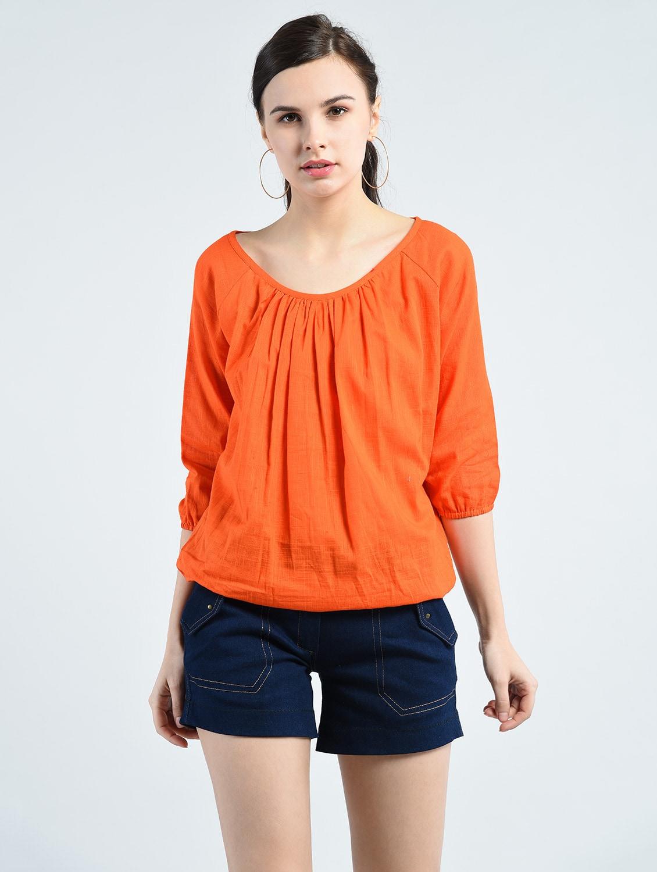 orange solid top