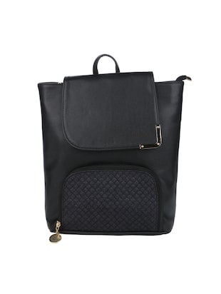 black leatherette  regular backpack