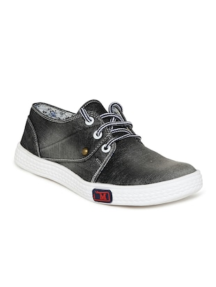black canvas laceup sneakers