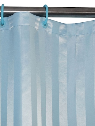 Thick striped prism water repellent plain shower curtain - 14711397 - Standard Image - 2