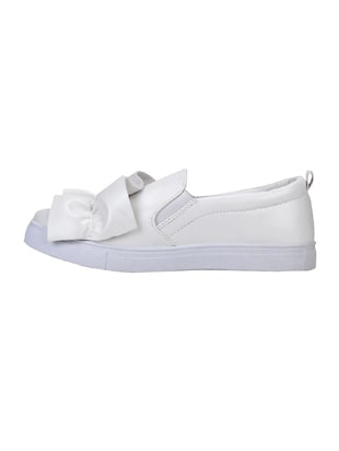 white plimsolls casual shoe - 14714842 - Standard Image - 2