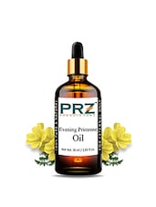 PRZ Evening Primrose Cold Pressed Carrier Base Oil (30ML) - Pure Natural & Undiluted For Skin Care & Hair Care - By