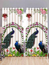 Pack of 2 DIGITAL Door Curtain Set-7 Feet -  online shopping for Curtains