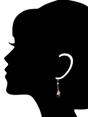 black metal drop earrings - 14737314 - Standard Image - 2