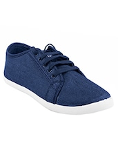 blue canvas laceup casual shoes -  online shopping for Casual Shoes