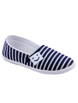 navy canvas slip on casual shoes -  online shopping for Casual Shoes