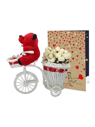 Tricycle Flower Basket Piones Rose Day Gift