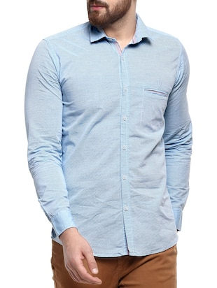 light blue cotton casual shirt