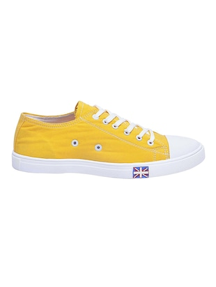 yellow Canvas lace up sneaker - 14769419 - Standard Image - 2