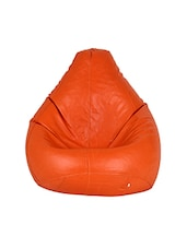 Gunj Large Teardrop Bean Bag Cover Without Filling Orange