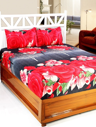 Cotton Printed Double bedsheet with 2 Pillow Covers - 14772543 - Standard Image - 1