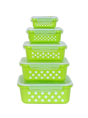 Blue Polka Dots Air Tight Storage Box- Set of 5