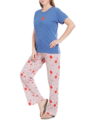 blue nightwear pyjama set - 14776628 - Standard Image - 2