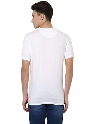 14f7e04fc white cotton chest print t-shirt - 14780888 - Standard Image - 2 ...