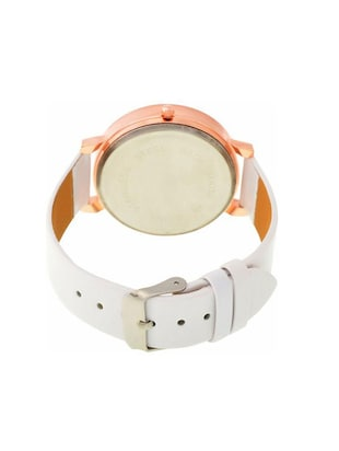 Women White leather Strap Analog Watch - 14789375 - Standard Image - 2