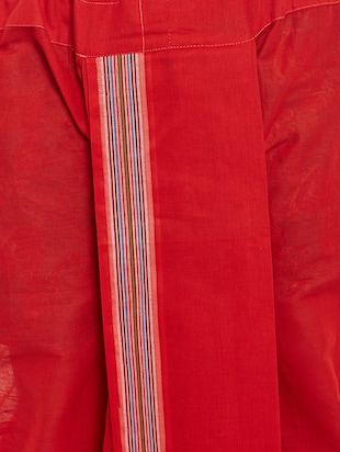 red cotton dhoti - 14794001 - Standard Image - 5