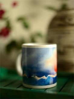 Coffee Mug With Scenic Landscape III By Umesh Prasad - Artfairie