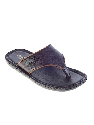 brown leatherette toe separator slipper -  online shopping for Slippers