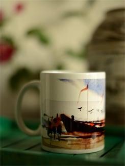 Coffee Mug With Boats II By Swapan Das - Artfairie