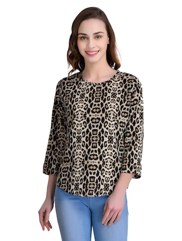fedf190926b983 Buy Tie Up Front Animal Print Top for Women from Oxolloxo for ₹623 ...
