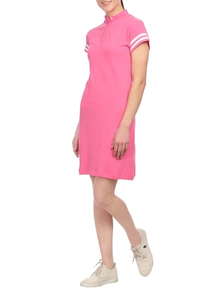 pink cotton shift dress - 14815838 - Standard Image - 2