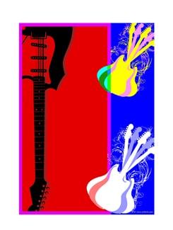 Digital Art Of Playing Guitar II Poster - Artfairie