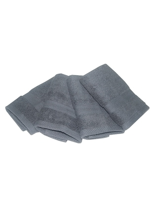 PS Decor  cotton hand towel pack of 4 pc charcoal