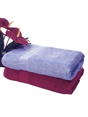 100% cotton soft smooth 450 GSM set of 2 bath towel