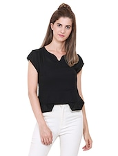 Heather Hues Black Colored Top -  online shopping for Tops