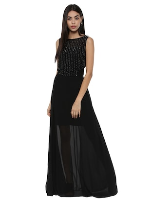 a078a05fea1 Buy Black Embellished Maxi Dress for Women from Kazo for ₹2122 at ...