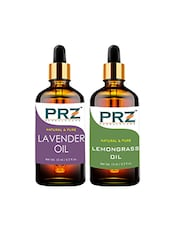 PRZ Combo Set Of Lavender Oil & Lemongrass Essential Oil ( Each 15ml ) - By