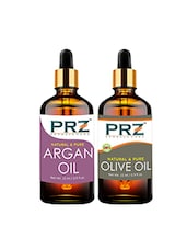 PRZ Combo Of Moroccan Argan Oil & Extra Virgin Olive Oil For Hair Growth, Skin Care (Each 15ML ) - By