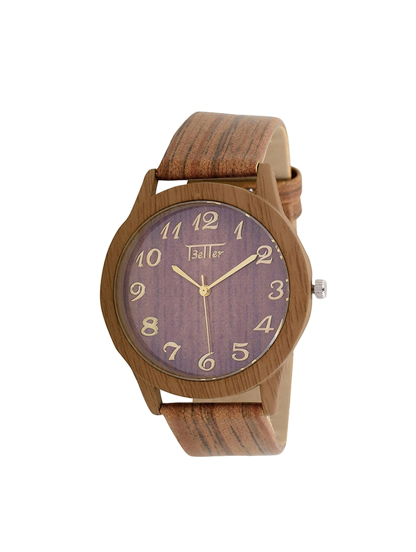 Buy Nubela New Wooden Colour Printed Dial Analog Girls Watch by ...