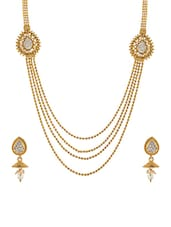 gold brass chain long set -  online shopping for Sets