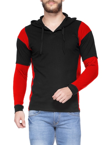 e4e9d5e1b220 Buy Grey Solid Hooded T-shirt for Men from Kay Dee for ₹405 at 66 ...