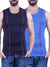 navy & royal blue cotton vest -  online shopping for Vests