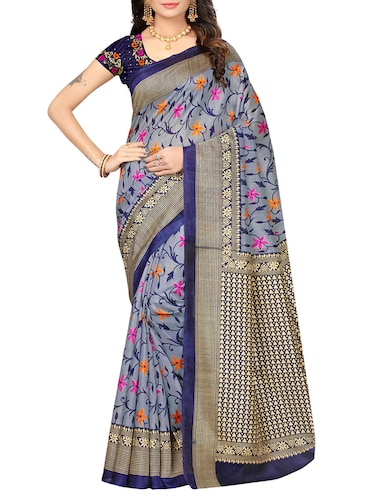 a1dfe964a27923 Buy Red Raw Silk Bhagalpuri Saree With Blouse for Women from Rashi ...