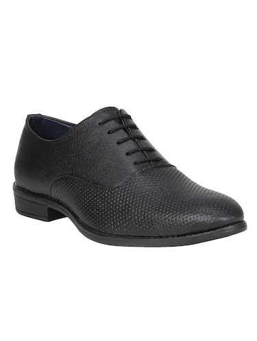 black leatherette formal oxford - 14865210 - Standard Image - 1