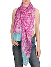 pink polyester scarf -  online shopping for Scarves