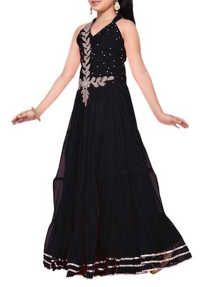 black net party gown - 14873343 - Standard Image - 2