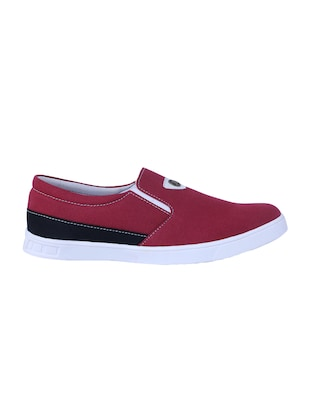 red Canvas casual slipon - 14875963 - Standard Image - 2